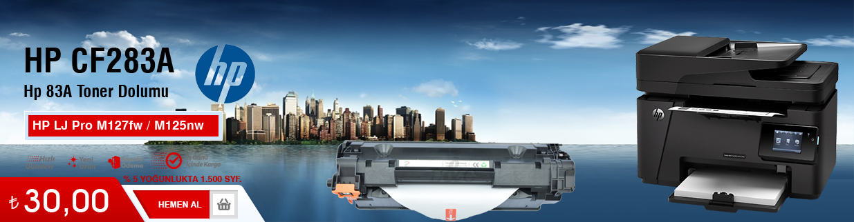 HP M225dn Toner Dolumu - HP 83A - CF283A, çekmeköy, fiyatı