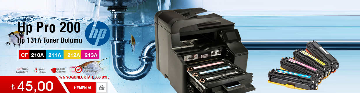Hp 131A Toner Dolumu -  Pro 200 - CF210a, çekmeköy, fiyatı