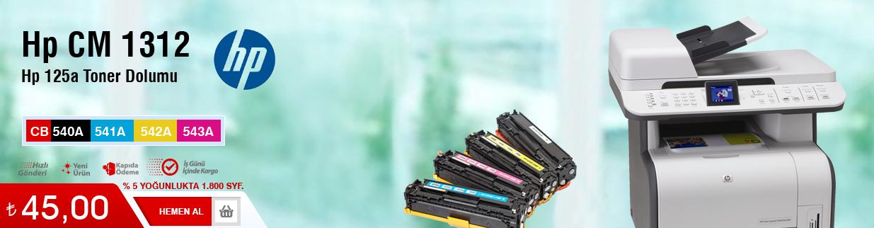 HP LaserJet CM1312 toner dolumu çekmeköy, fiyatı