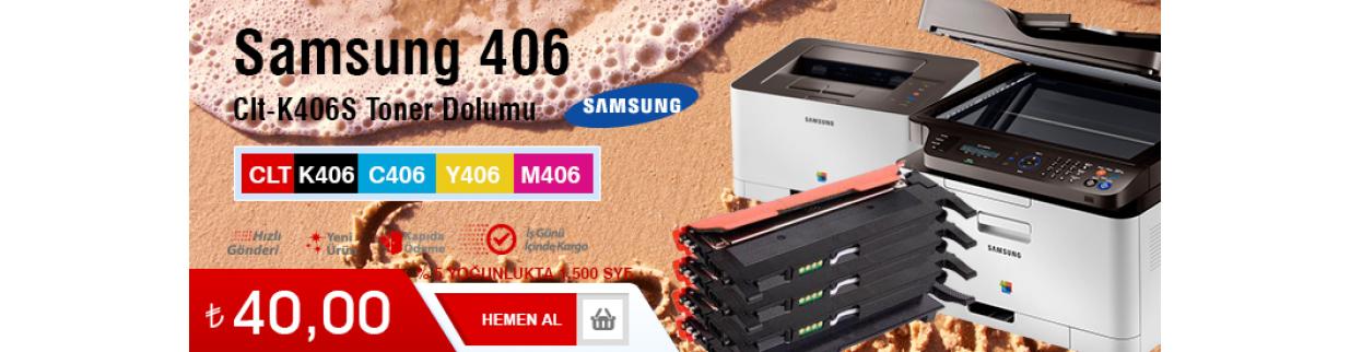 Samsung CLX-3185FN 406 toner dolum çekmeköy, fiyatı