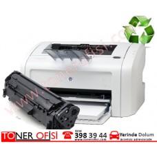 HP LaserJet 1018 Toner Dolumu - HP 12A toner- Q2612AD