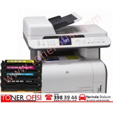 HP LaserJet CM1312nfi MFP Toner Dolumu HP 125A Toner (CB540A)
