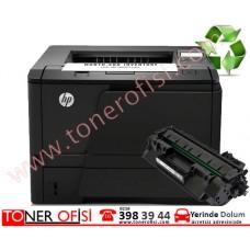 HP LaserJet Pro 400 M401a Toner Dolumu HP 80A Toner (CF280A)