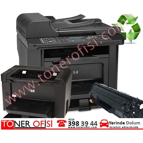 HP LaserJet Pro M1536dnf Toner Dolumu - Hp 78A Toner  CE278A