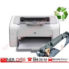 HP LaserJet Pro P1102  Toner Dolumu - HP 85A Toner (CE285A)