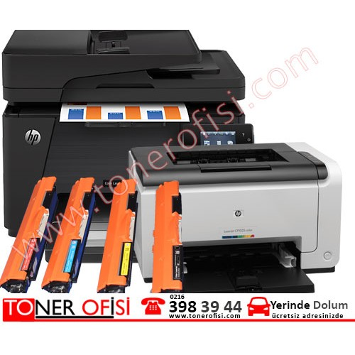 HP LaserJet CP1025 Toner Dolumu - Hp 126A Toner  CE310AD